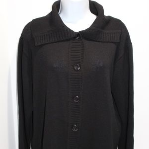 Margaret O'Leary Cardigan spread collar wool blend